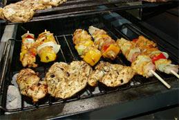 La cuisson de la viande au barbecue