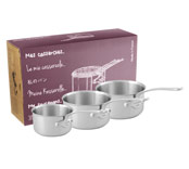 Lot de 3 casseroles M'Urban (Les bons outils) - Lot de 3 casseroles de diamètre...
